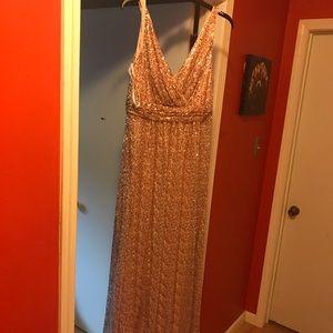 David's Bridal Rose Gold bridesmaids dress